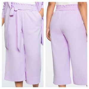 Eloquii Paperbag Lilac Crop Palazzo Pants Size 18
